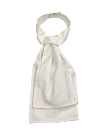 Equi-Logic PreTied Stock Tie in White