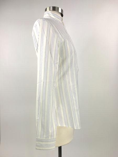 right side view of Callidae Butter Yellow Stripe Show Shirt - Women's XL