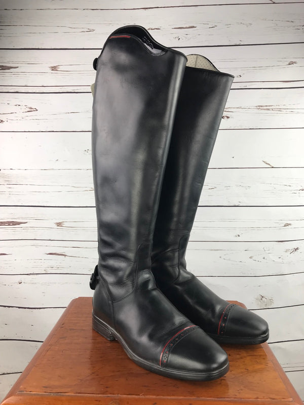 DeNiro Custom Dress Boots in Black/Red - Approx. Women's EU 41.5