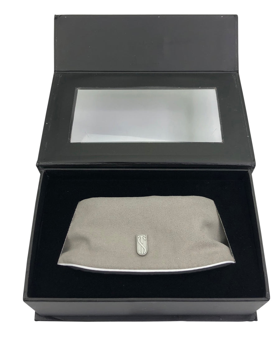 Open box of Tredstep™ Solo Pro Interchangeable Collar in Grey