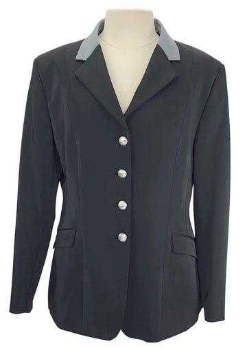 RJ Classics Xtreme Washable Show Coat in Black with grey collar