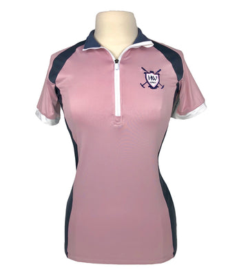 Horseware Eda Sporty Technical Polo in Pink/Navy - Women's M