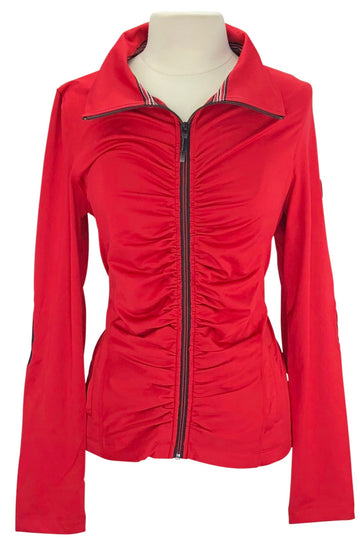 Front of Horseware Albina Fleece Zip-Up in Red