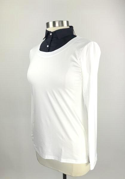 Callidae Practice Shirt in White/Navy -  Left Side View