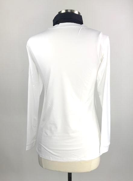 Callidae Practice Shirt in White/Navy -  Back View