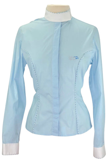 Sarm Hippique Competition Shirt in Baby Blue