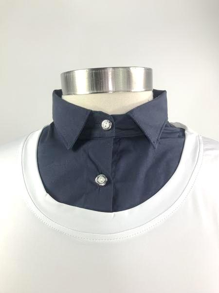 Callidae Practice Shirt in White/Navy -  Collar View