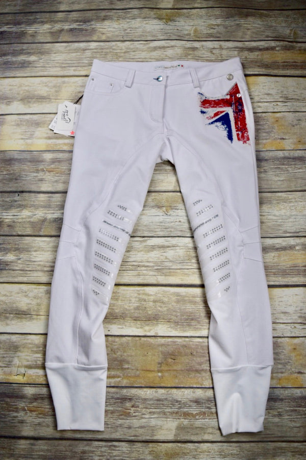 Animo Interra Breeches in UK Bianco - Women's IT44