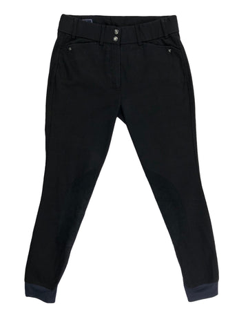 Ariat Heritage Elite Knee Patch Breeches in Black - Women's 28L | M