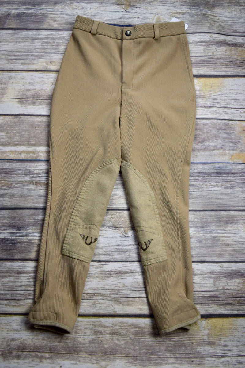 TuffRider Ribb Knee Patch Breeches in Tan - Children's 10