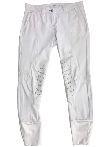 Animo Breeches in White - Front View