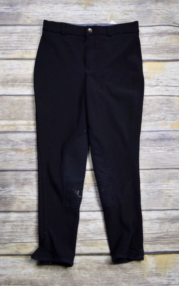 TuffRider Ribb Pull-On Breeches in Black - Approx. Children's 10 | M