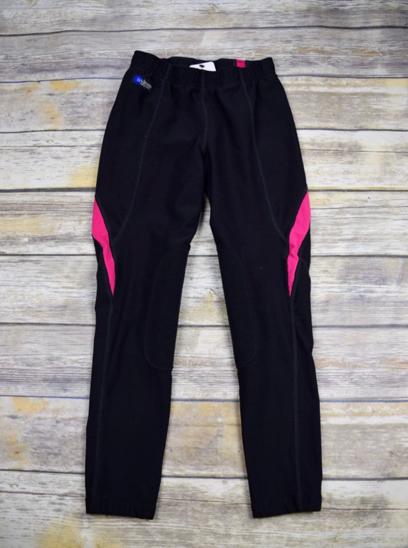 Irideon Power Stretch Silhouette Tight in Black/Pink - Children's Large