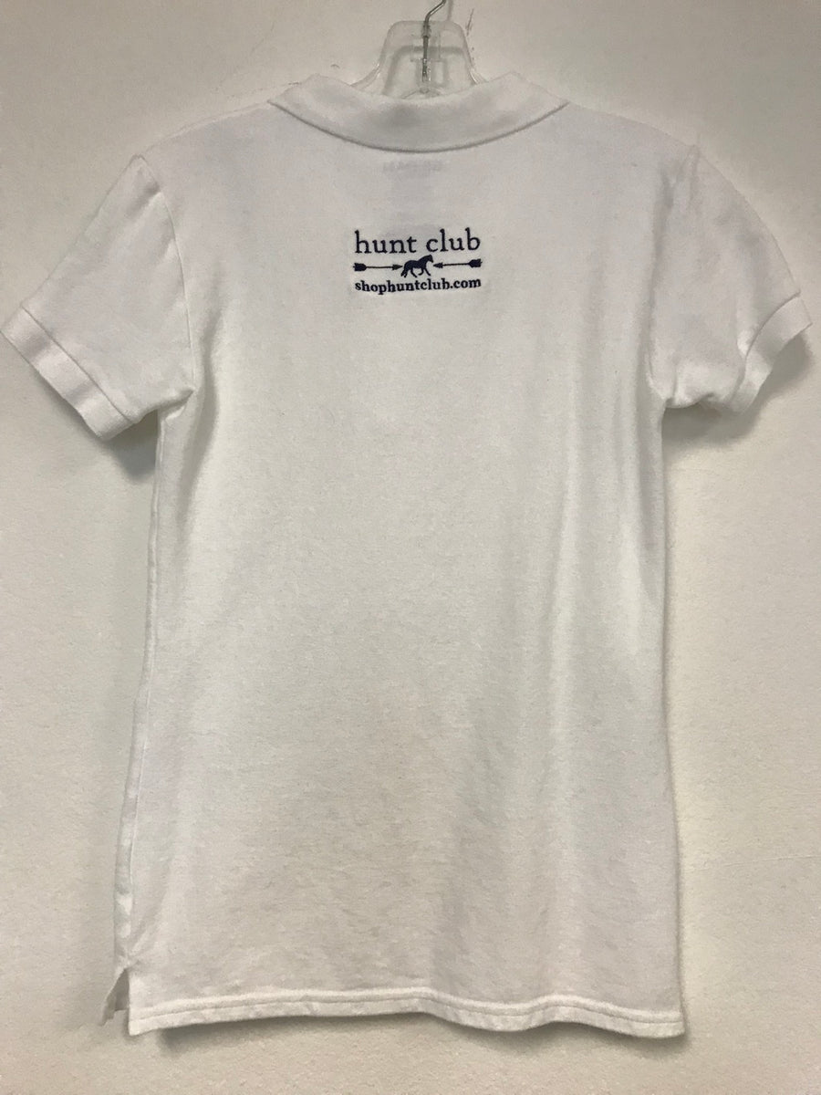 Hunt Club Polo in White - Back View