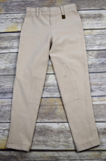 Devon-Aire Concour Pull-On Breeches in Beige -  Front View