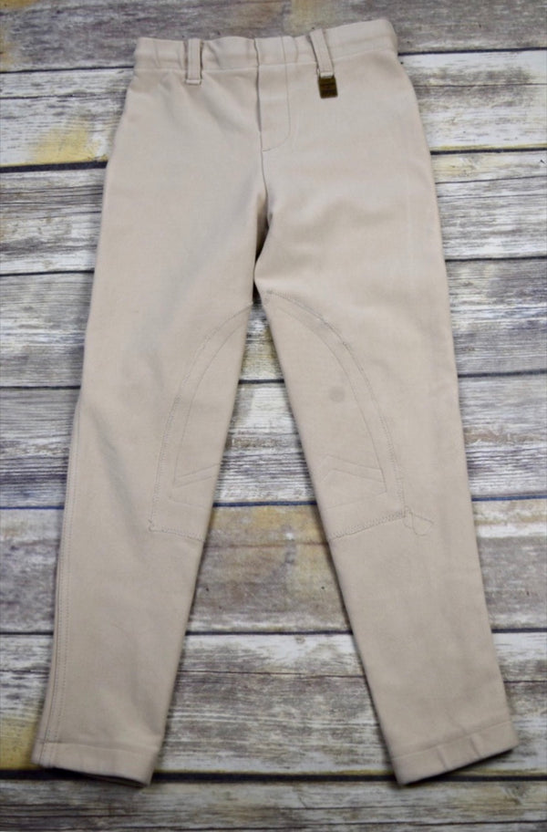 Devon-Aire Concour Pull-On Breeches in Beige - Children's Small