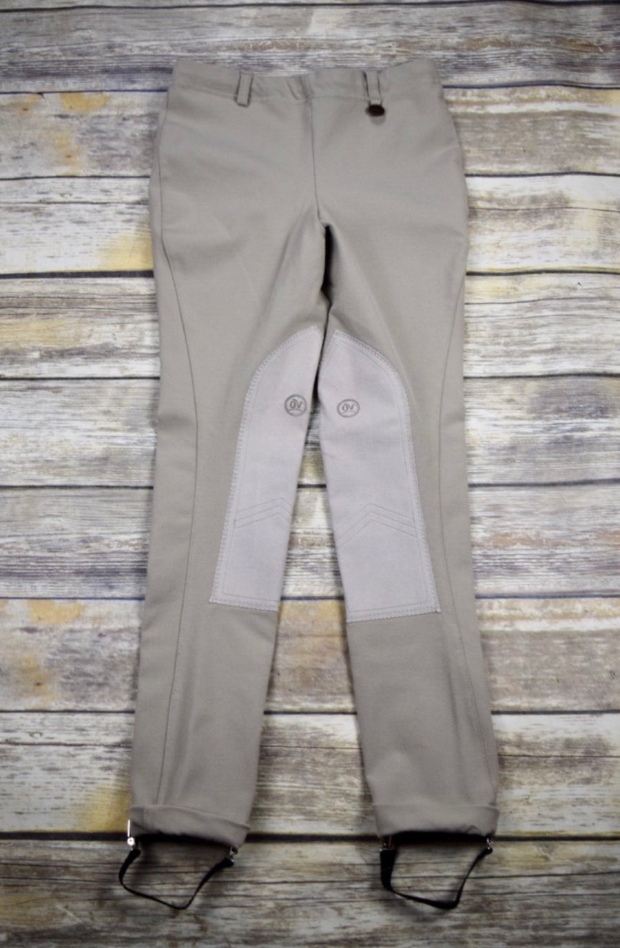 Ovation EuroWeave Pull-On Jods in Tan - Front View
