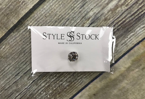 Style Stock Solitaire Tie Pin in Crystal - One Size