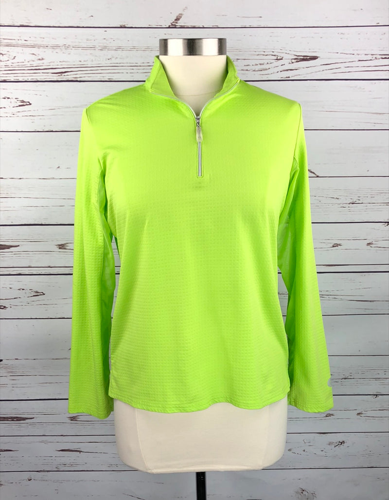 Bette and Court Cool Elements Shirt in Neon Green - Women's Large