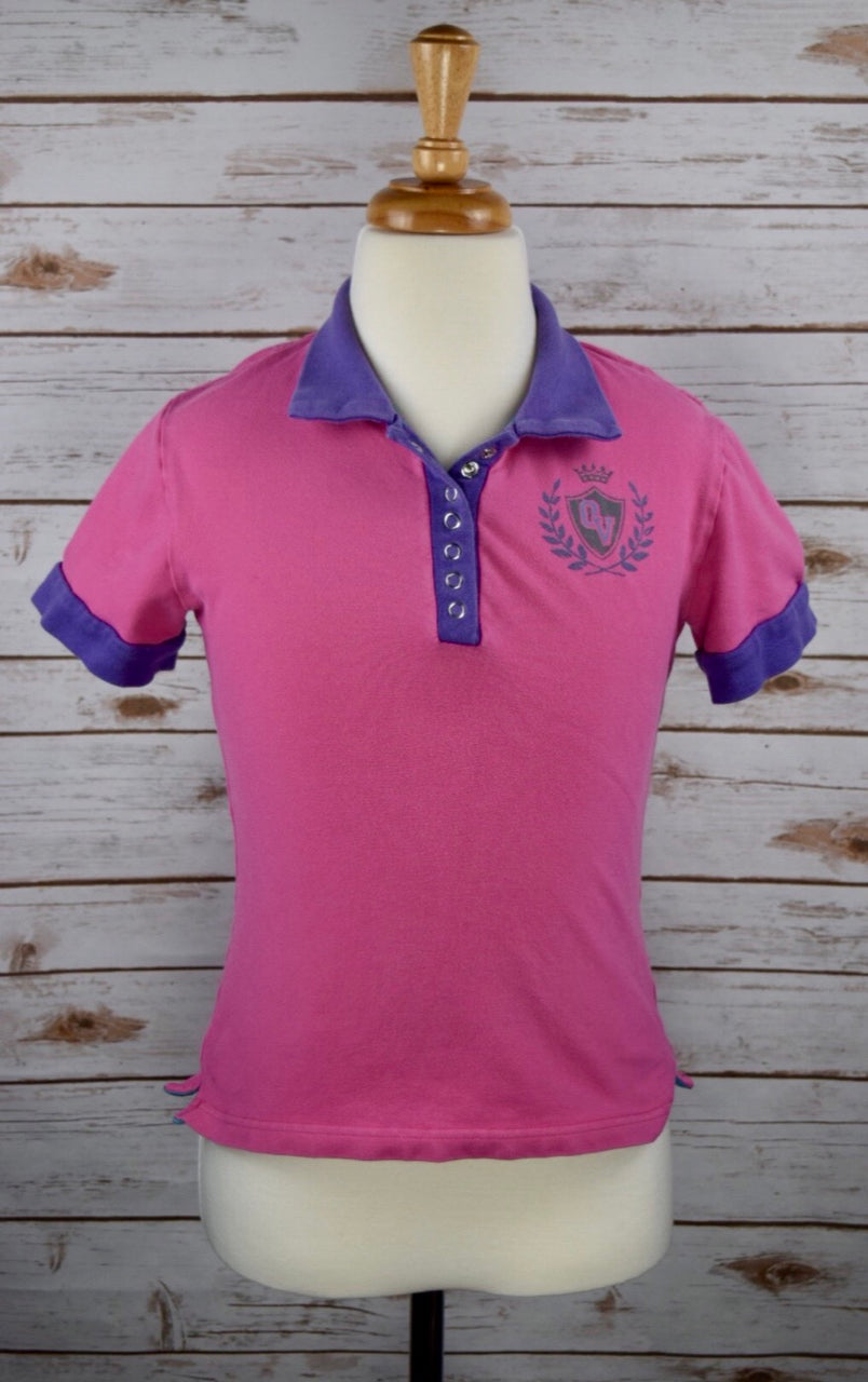 Ovation Eq Style Polo in Pink/Purple - Children's Large