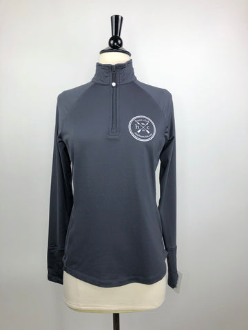 Hunt Club Performance 1/4 Zip Pullover in Blue Grey - Front View