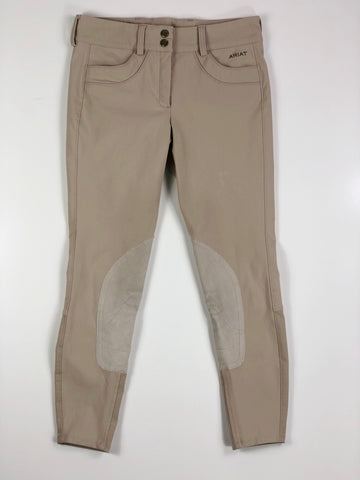 Ariat Olympia Knee Patch Breeches in Tan - Women's 24R | XS/S