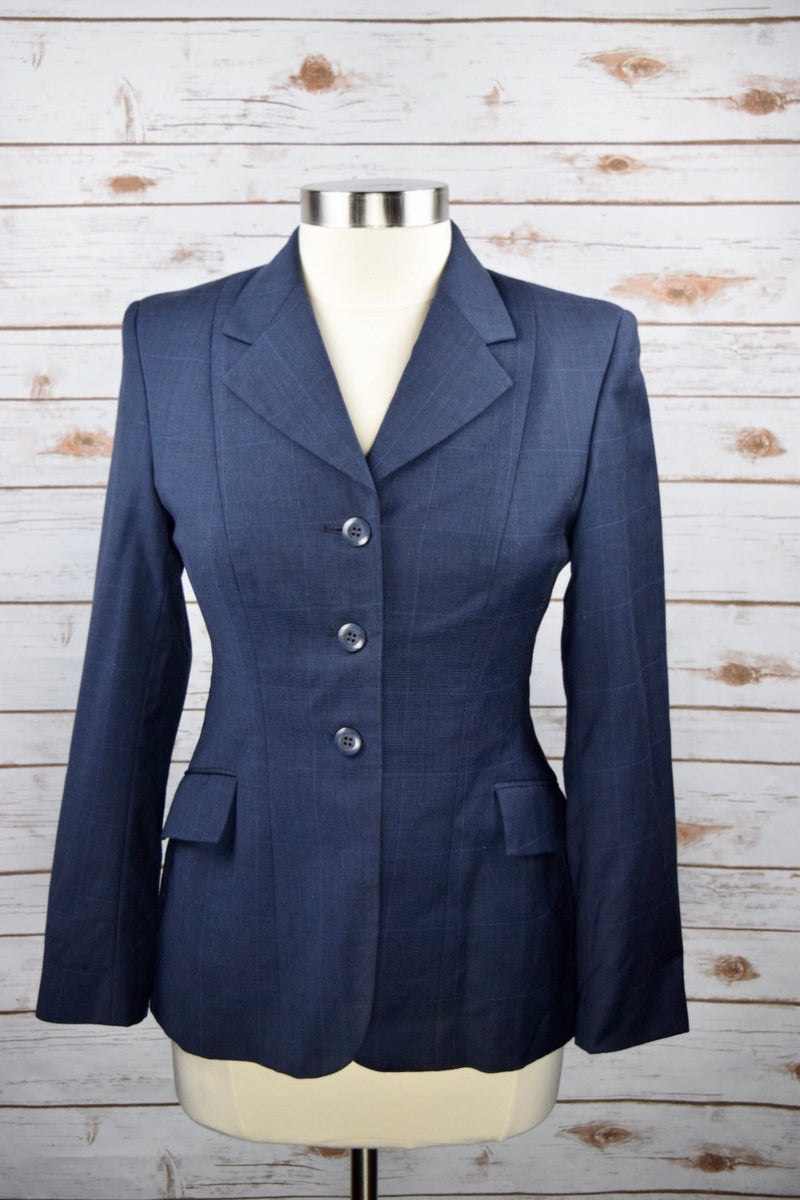 Grand Prix Hunt Coat in Navy Check  - Women's 12R Slim