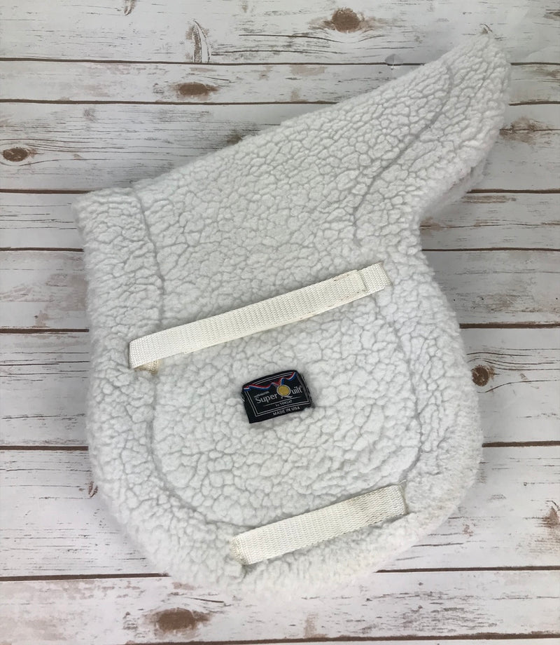 "Toklat Medallion SuperQuilt Saddle Pad in White - 18.5"" Spine"