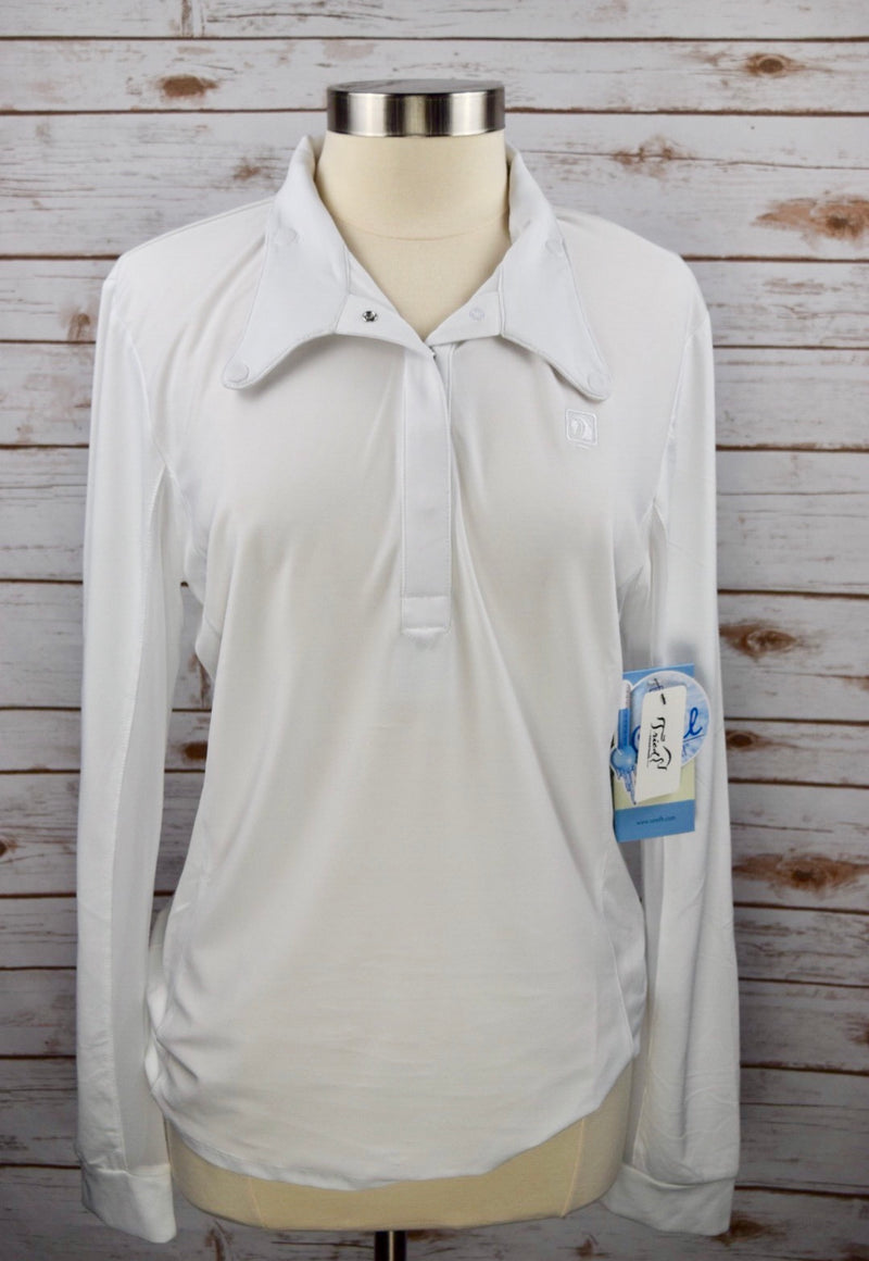 Romfh Competitor Show Shirt in White - Women's XL