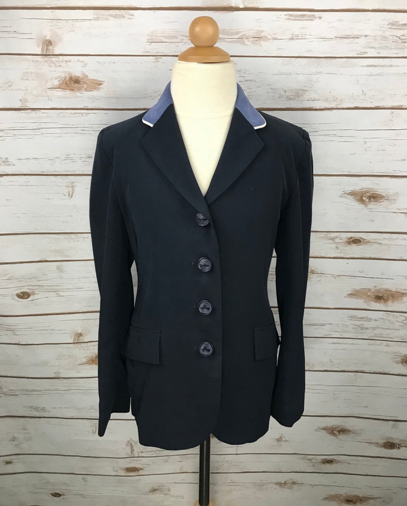 Grand Prix TechLite Show Jacket in Navy w/French Blue Collar - Children's 10R