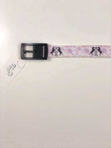 C4 x Gray & Bay Horse Co. Belt in Pink/Purple- Front View