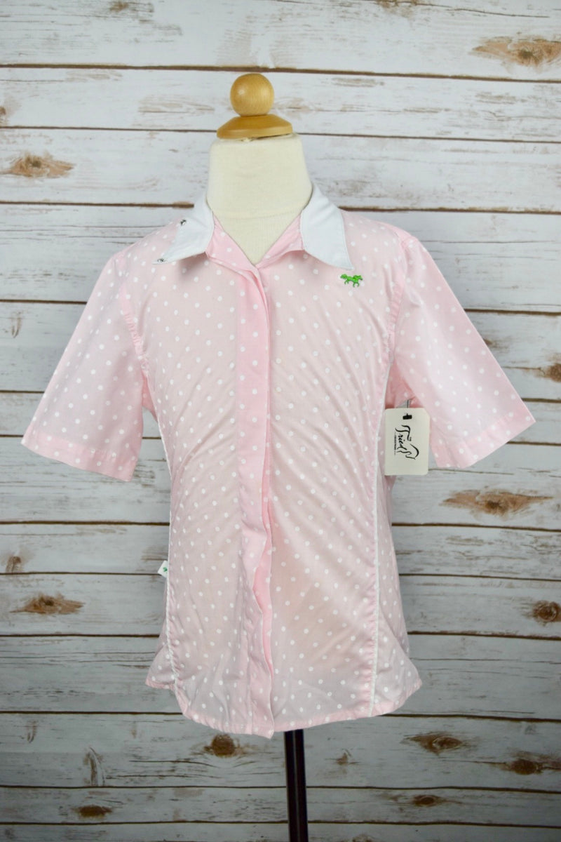 Clever Human Short Sleeve Show Shirt in Pink Polka Dot - Children's 8