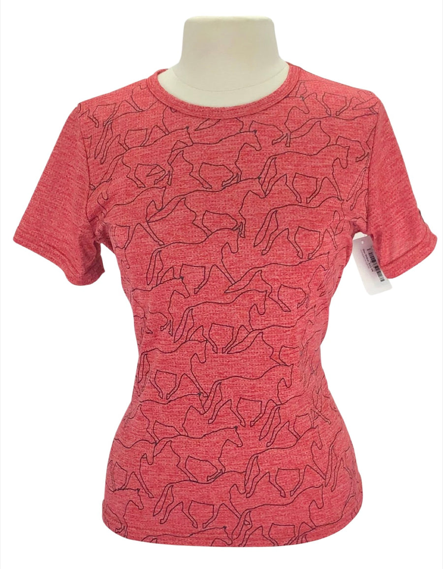 front view of Kerrits Ice Fil Tech Tee in Red