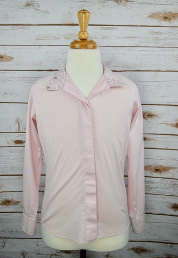 Essex Classics Coolmax Wrap Collar Show Shirt in Pink -  Front View
