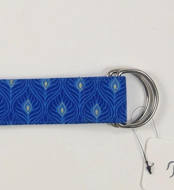 Ellany Equestrian D Ring Belt in Peacock - Clasp View