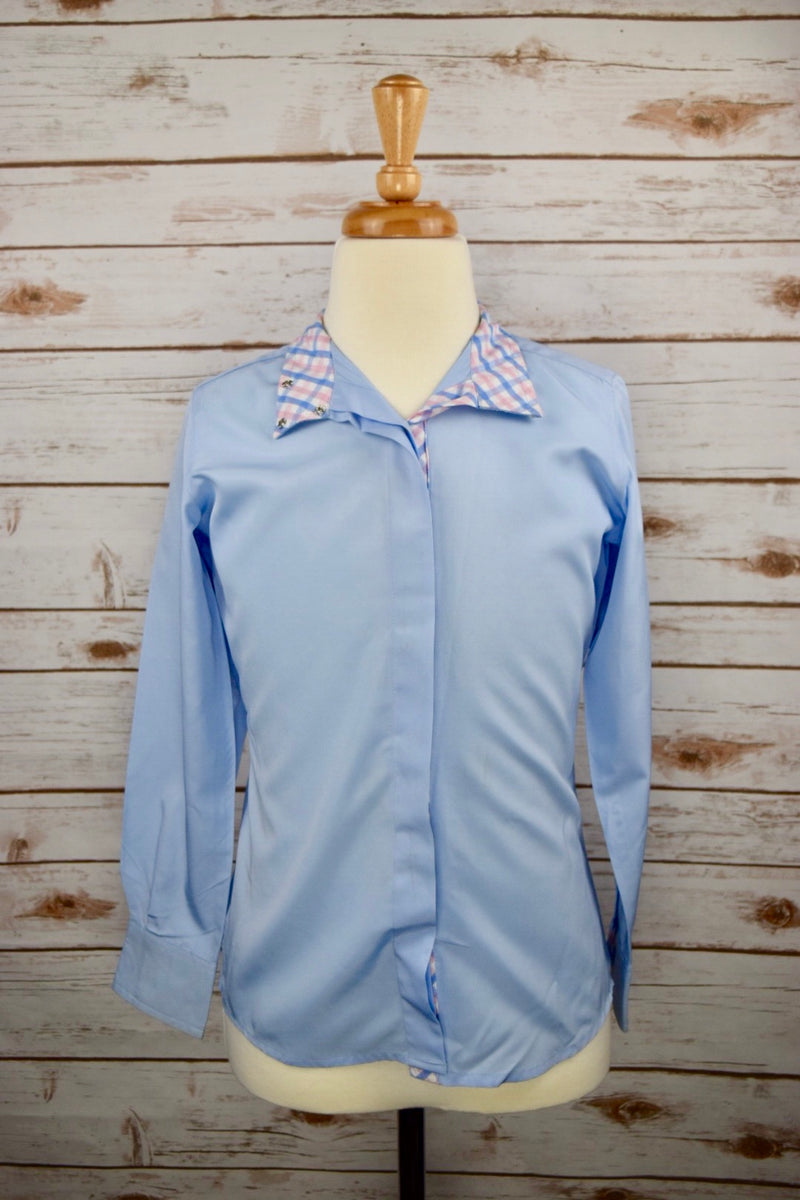 The Tailored Sportsman Coolmax Show Shirt in Blue - Children's 10