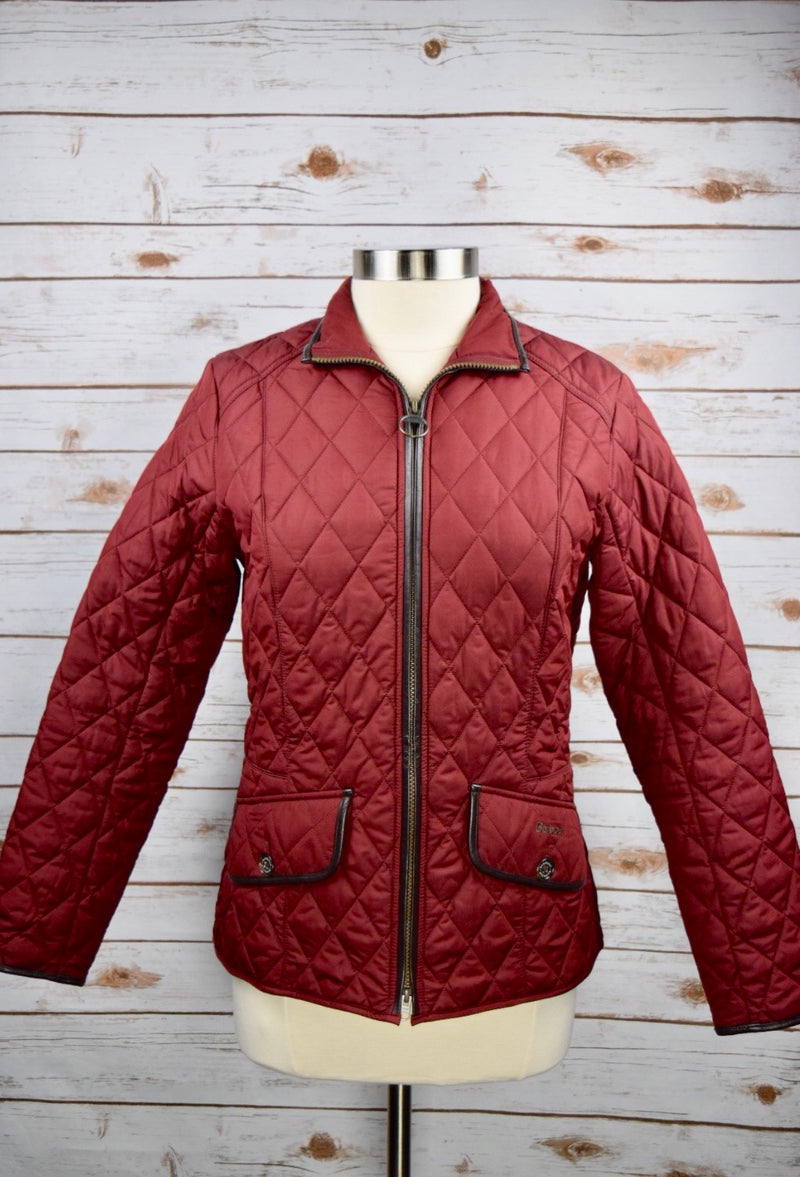 Barbour Stallion Quilted Jacket in Rosewood - Women's US 8