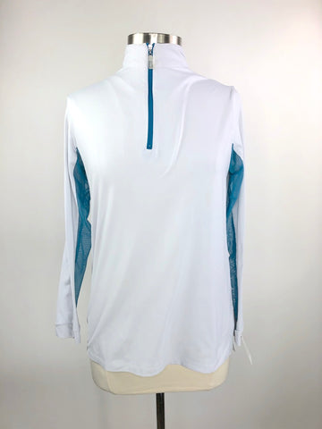 Tailored Sportsman Ice Fil Shirt in White/Blue Streak - Women's L