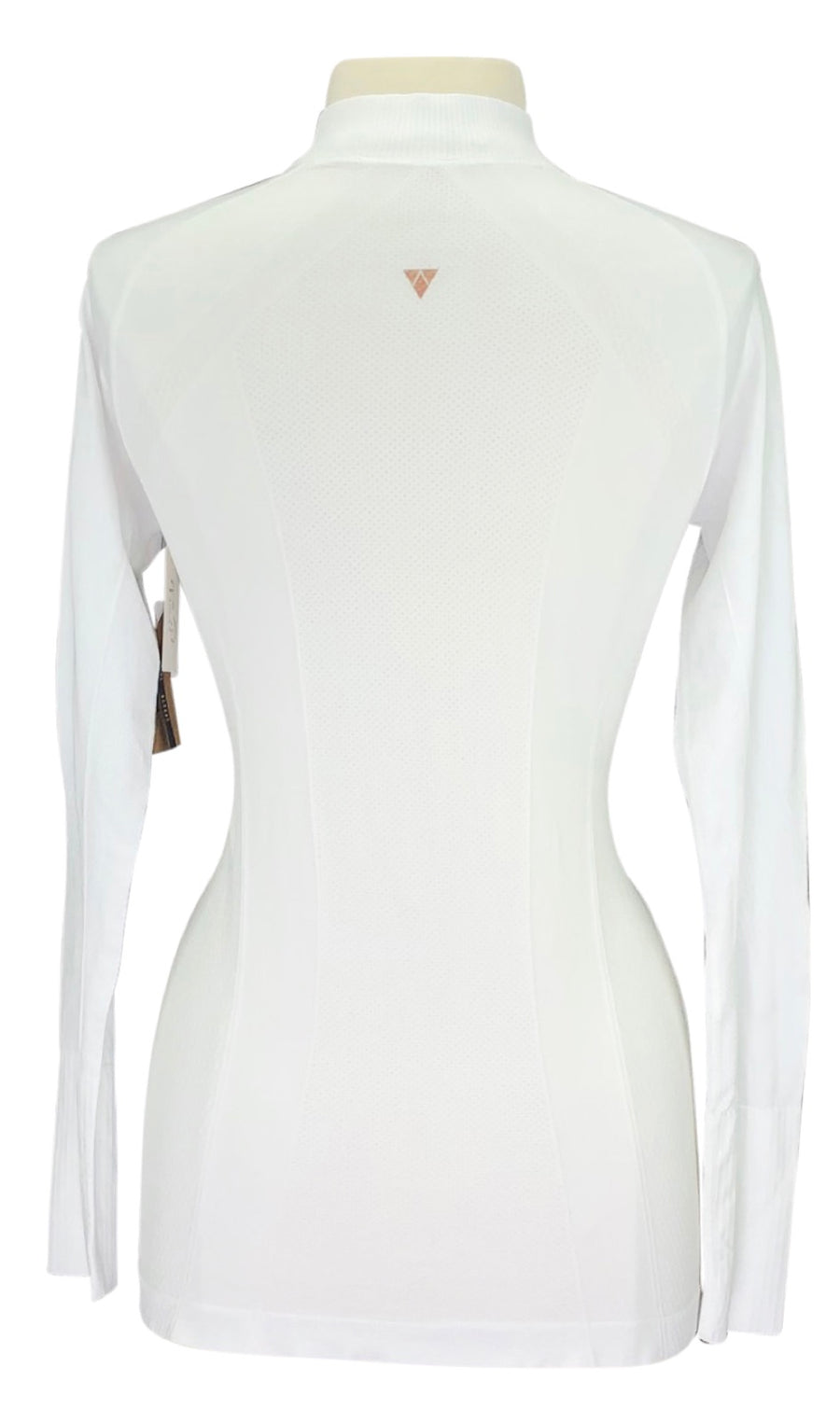 Back of Anique Signature Sun Shirt in Pure White with logo