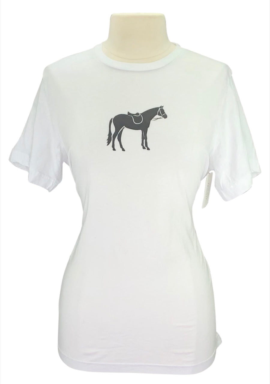 Gray & Bay Horse Co. Jumper Tee in White