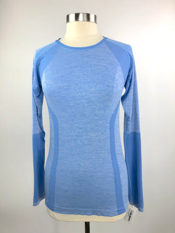Z by Zella Seamless Shirt in Blue - Women's L