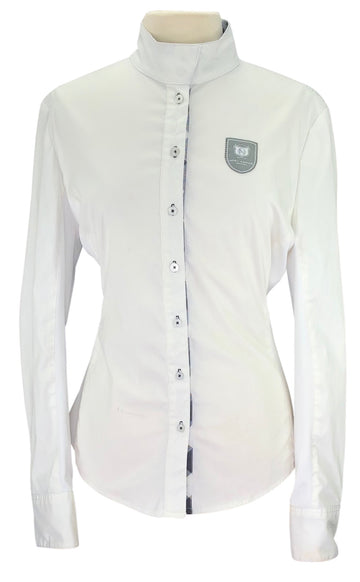 Noel Equestrian Show Shirt in White