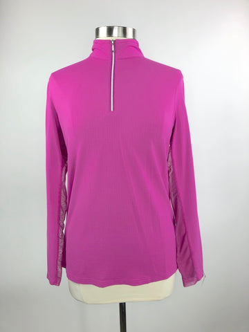 Dover Saddlery CoolBlast IceFil Long Sleeve Shirt in Fuschia - Women's L