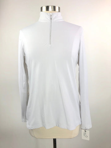 Dover Saddlery CoolBlast IceFil Long Sleeve Shirt in White - Women's L