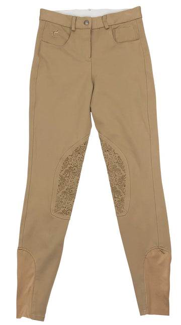 SmartPak Piper Knit Mid-Rise Breeches in Tan
