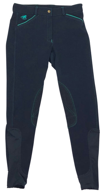 Smartpak Piper Breeches in Navy with Green trim