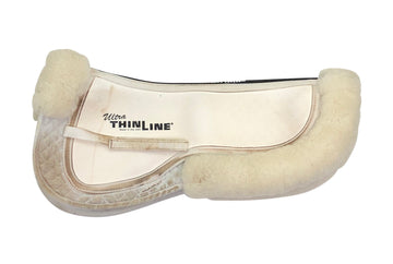 Ultra ThinLine Half Pad W/ Sheepskin Rolls in White