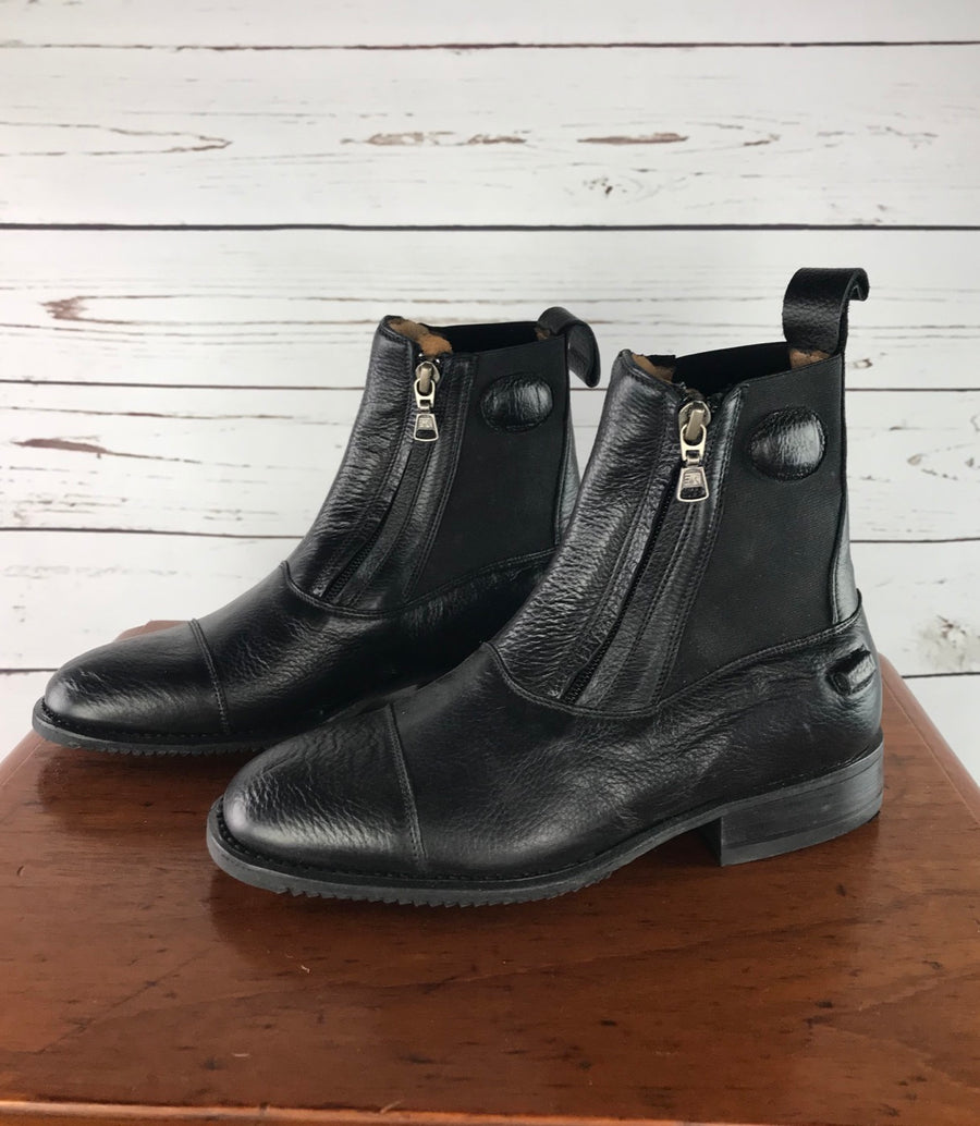 DeNiro T03 Paddock Boots in Black - Front View 2