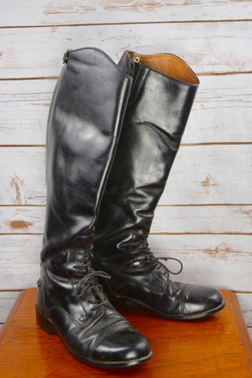 Ariat Heritage Field Boot in Black- Left Side View