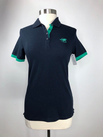 SmartPak Piper Polo in Navy/Green - Women's M